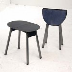 folding steel low side tables
