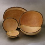oval bowls, cherry