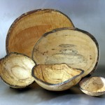 oval bowls, spalted maple