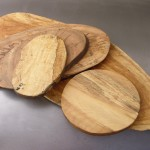 serving boards (oval), spalted maple
