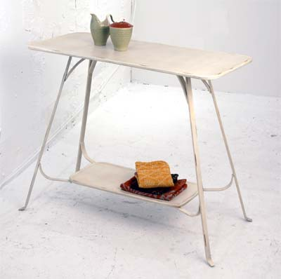 White Metal Table