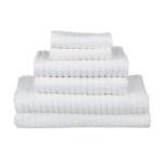 glo Stripe White Bath Set