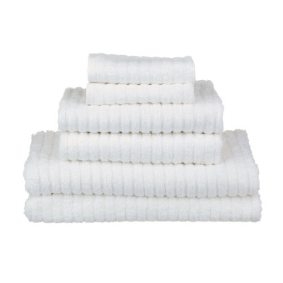 glo Stripe White Bath Set