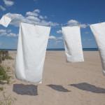 glo Stripe White Towel Set- Beachside