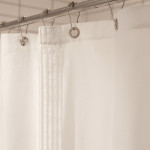 glo Voile White Shower Curtain
