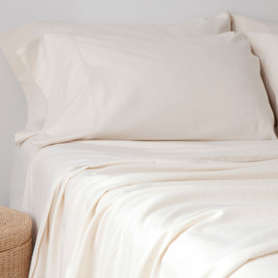 glo Twill Flannel Natural Duvet Cover